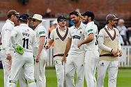Wicket - Tim Groenewald of Somerset celebrates taking the wicket of Joe Leach of Worcestershire during the Specsavers County Champ Div 1 match between Somerset County Cricket Club and Worcestershire County Cricket Club at the Cooper Associates County Ground, Taunton, United Kingdom on 22 April 2018. Picture by Graham Hunt.