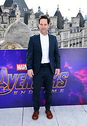 Paul Rudd attending a photocall for Avengers: Endgame, at the Corinthia in London.