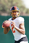 Los Angeles Wildcats quarterback Jalan McClendon (2) throws the ball during practice, Wednesday, Feb. 5, 2020, in Long Beach, Calif. The Wildcats are part of the eight-team XFL, a professional American football league owned by Vince McMahon's Alpha Entertainment, with  headquarters in Stamford, Connecticut. It is the successor to the original XFL, which was controlled by the World Wrestling Federation (WWF, now WWE)  and NBC, and ran for a single season in 2001.
