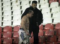 Fotball<br /> Serbia<br /> 02.12.2007<br /> Foto: imago/Digitalsport<br /> NORWAY ONLY<br /> <br /> Opptøyer i forbindelse med Røde Stjerne og Hajduk Kula<br /> <br /> Zivilbeamter schwer gezeichnet nach den Ausschreitung der Fans von Roter Stern Belgrad