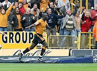 Photo: Mark Stephenson.<br /> Wolverhampton Wanderers v West Bromwich Albion. Coca Cola Championship. Play off Semi Final, 1st Leg. 13/05/2007.Wolves Seyi Olofinjana celebrates his goal