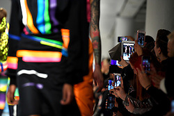 Models on the catwalk during the Fyodor Golan Autumn/Winter 2017 London Fashion Week show at the BFC Show Space, 180 Strand, London. Photo credit should read: Doug Peters/ EMPICS Entertainment