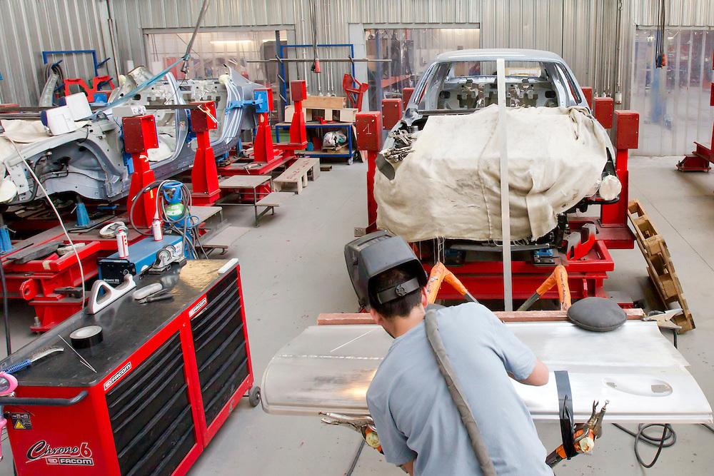201100623 - BELGIUM , LIEGE - Garage Carat Duchatelet ( caratsecurity ) est une entreprise Belge, spécialisé dans la carrosserie de luxe et dans les solutions de blindage pour la protection mobile des chefs d'Etat, des transports de fonds, des véhicules tout-terrain et des applications militaires. C'est à Carat Duchatelet que l'ont doit la réalisation de la voiture du prince Albert II de Monaco qui servira à l'occasion de <br /> son mariage.  --  MANDATORY CREDIT : © Scorpix - F.Guerdin/P.Mascart --