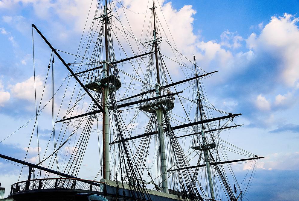 Civil War vessel USS Constellation, Inner Harbor, Baltimore, Maryland, USA