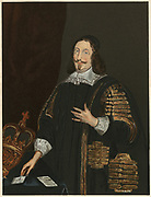 William Lenthall (1591-1662) English parliamentarian. Speaker of House of Commons in Long Parliament, 1640. Chromolithograph.