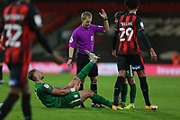 Football - 2020 / 2021 Sky Bet Championship - AFC Bournemouth vs. Preston North End - The Vitality Stadium<br /> <br /> Patrick Bauer of Preston winces in pain before receiving treatment at the Vitality Stadium (Dean Court) Bournemouth <br /> <br /> COLORSPORT/SHAUN BOGGUST