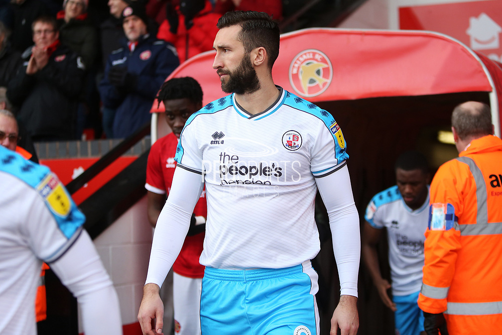 Ollie Palmer walks out for the EFL Sky Bet League 2 match between Walsall and Crawley Town at the Banks's Stadium, Walsall, England on 18 January 2020.