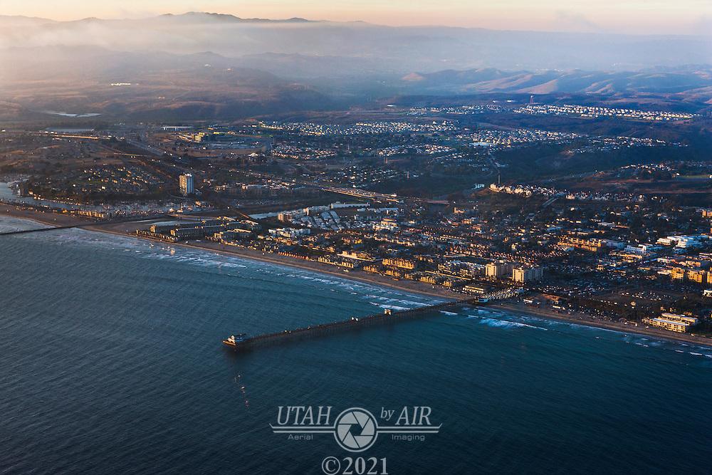 The coast of California near Oceanside.