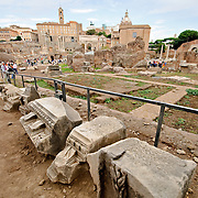 Roman ruins on the Foro Romano