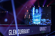 Glen Durrant during the Premier League Darts at Marshall Arena, Milton Keynes, United Kingdom on 5 April 2021.