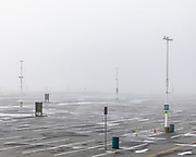 OCEAN CITY, MD - APRIL 26: Fog sits over the empty main parking lot for the boardwalk on April 26, 2020 in Ocean City, Maryland. The coronavirus pandemic shut down the city just before Easter Sunday which usually marks the beginning of the tourist season. Many hotel, restaurant, and tourism industry workers rely on the seasonal business during the warm months to provide most of their yearly income. (Photo by Samuel Corum/Getty Images)
