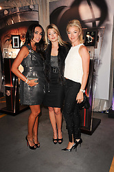 Left to right, TAMARA ECCLESTONE, HOLLY VALANCE and TMARA BECKWITH  at a party to celebrate 150 years of TAG Heuer held at the car park at Selfridge's, London on 15th September 2010.
