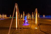 Deep playa art at night. Name unknown.
