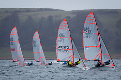 The annual RYA Youth National Championships is the UK's premier youth racing event. Day 3 with winds backing to the North the racing started on the Largs Channel.<br /> <br /> 29er Fleet upwind Race 1<br /> <br /> Images: Marc Turner / RYA<br /> <br /> For further information contact:<br /> <br /> Richard Aspland, <br /> RYA Racing Communications Officer (on site)<br /> E: richard.aspland@rya.org.uk<br /> m: 07469 854599