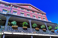 Wrought iron balconies around Jackson Square, French Quarter, New Orleans, Louisiana, USA