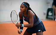 Cori Gauff of the United States playing doubles at the Roland Garros 2020, Grand Slam tennis tournament, on October 1, 2020 at Roland Garros stadium in Paris, France - Photo Rob Prange / Spain ProSportsImages / DPPI / ProSportsImages / DPPI