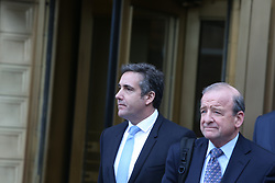 April 16, 2018 - New York City, New York, United States - US District Court Judge Kimba Wood ordered Trump attorney Michael Cohen and adult film star Stormy Daniels, ie. Stephanie Clifford, to appear in district court at 2:00 pm, Monday, April 16 to hear arguments about whether or not they should be allowed to view seized documents before prosecutors. (Credit Image: © Andy Katz/Pacific Press via ZUMA Wire)