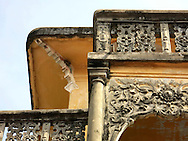 Detail of neo-classical architecture in Phan Thiet, Binh Thuan Province, Vietnam, Southeast Asia