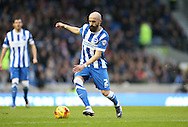 Brighton defender, Bruno Saltor (2) during the Sky Bet Championship match between Brighton and Hove Albion and Birmingham City at the American Express Community Stadium, Brighton and Hove, England on 28 November 2015.