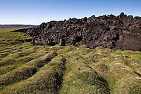 Lava in Gjastykki from Kroflueldar. Kroflueldar were several eruption from 20th of December 1975 to 18th of September 1984. North Iceland. Hraunið í Gjástykkjum. Gjástykki heitir sundursprunginn sigdalur norður frá Kröflu-kötlunni. Þar gaus í Kröflueldum. Kröflueldar voru hrina eldgosa og kvikuhlaupa sem áttu sér stað við Kröflu frá 20. desember 1975 til 18. september 1984.