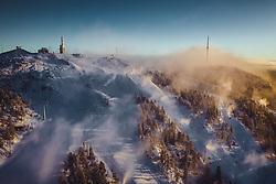 THEMENBILD - der Fjell Rukatunturi mit den Skispisten im Morgenlicht, aufgenommen am 25. November 2018 in Ruka, Finnland // the Fell Rukatunturi with the ski pistes in the morning light, Ruka, Finland on 2018/11/25. EXPA Pictures © 2018, PhotoCredit: EXPA/ JFK