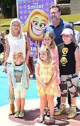 July 23, 2017 - Westwood, California, U.S. - Tori Spelling, Dean McDermott, Stella McDermott, Liam McDermott, Hattie McDermott, Finn McDermott arrives for the premiere of the film 'The Emoji Movie' at the Regency Village theater. (Credit Image: © Lisa O'Connor via ZUMA Wire)