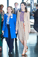 Queen Letizia of Spain visits the School of Engraving and Graphic Design and  delivery the awards of Graduation to the 7th promotion of the 'Master in Engraving and Graphic Design' and the 'Prize Tomas Francisco Prieto', that recognizes the professional and human trajectory of Jose Manuel Broto at Real Casa de la Moneda on April 8, 2019 in Madrid, Spain