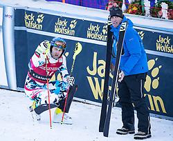 29.12.2016, Deborah Compagnoni Rennstrecke, Santa Caterina, ITA, FIS Ski Weltcup, Santa Caterina, alpine Kombination, Herren, Slalom, im Bild Romed Baumann (AUT) // Romed Baumann of Austria reacts after his run of Slalom competition for the men's Alpine combination of FIS Ski Alpine World Cup at the Deborah Compagnoni race course in Santa Caterina, Italy on 2016/12/29. EXPA Pictures © 2016, PhotoCredit: EXPA/ Johann Groder