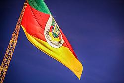 Bandeira do Estado do RS na 38ª Expointer, que ocorrerá entre 29 de agosto e 06 de setembro de 2015 no Parque de Exposições Assis Brasil, em Esteio. FOTO: André Feltes/ Agência Preview