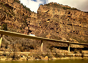 Amtrak Zephr land scape view, White River National Forest, Glenwood Springs, Colorado