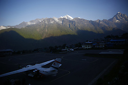May 27, 2019 - Lukla, Nepal - Aircrafts prepare to take off at the Tenzing-Hillary Airport also known as Lukla Airport rated as the most dangerous airport in the world at Lukla, the only gateway to Mount Everest in Nepal on Monday, May 27, 2019. (Credit Image: © Skanda Gautam/ZUMA Wire)