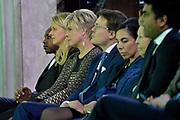 Koninklijke familie bij uitreiking Prins Claus Prijs in het Paleis op de Dam, Amsterdam. ///// Royal family attending the Prince Claus Award ceremony in the Royal Palace, Amsterdam.<br /> <br /> Op de foto / On the Photo:   Prinses Mabel, prinses Laurentien en prins Constantijn