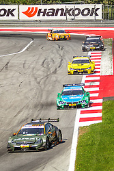 03.08.2014, Red Bull Ring, Spielberg, AUT, DTM Red Bull Ring, Renntag, im Bild Robert Wickens, (CAN,1. Platz Qualifying, FREE MAN'S WORLD Mercedes AMG C-Coupe), Augusto Farfus, (BRA, 2. Platz, Rennen, Castrol EDGE BMW M4 DTM), Timo Glock, (GER, 3. Platz, Rennen, Deutsche Post BMW M4 DTM), Pascal Wehrlein, (GER, gooix Mercedes AMG C-Coupe), Jamie Green, (GBR, Hoffmann Group Audi RS 5 DTM) // during the DTM Championships 2014 at the Red Bull Ring in Spielberg, Austria, 2014/08/03, EXPA Pictures © 2014, PhotoCredit: EXPA/ M.Kuhnke