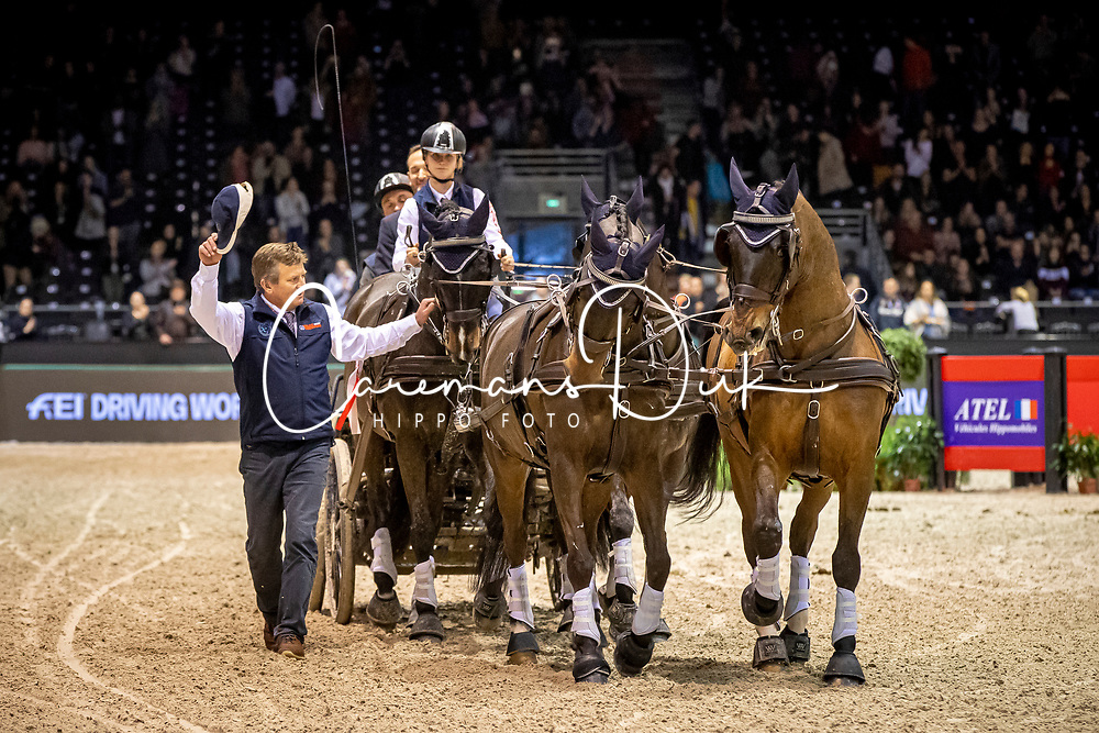 Exell Boyd, AUS, Bajnok, Demi, Barny, Rocket<br /> Boyd retiering his 23 year old wheeler Demi, she won 5 World Cup finals<br /> Jumping International de Bordeaux 2020<br /> © Hippo Foto - Dirk Caremans<br />  09/02/2020