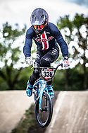 #338 (LARSEN Kamren) USA during practice at Round 3 of the 2019 UCI BMX Supercross World Cup in Papendal, The Netherlands