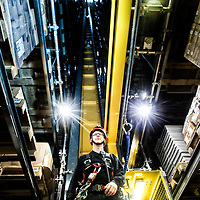 Mike Sackman Jensen arbejder hos Jysk på deres højlager i Uldum som teknisk support på blandt andet kranerne