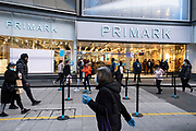 People out and about visiting the shops including Primark in the City Centre as tier three / very high alert level of the Coronavirus tier system continues during the run up to Christmas on 14th December 2020 in Birmingham, United Kingdom. After 9 months of lockdown in various forms, people are used to navigating the rules of shopping safely as all non-essential shops try to increase their takings and onwards to the national economy.