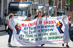 Reclaim the power and other groups including the All African Women's Group held a demonstration outside the UK Home Office. The action is part of a mass occupation camp organised by Reclaim the Power near Drax Energy's Rye House gas power station, just outside London as well as opposing the Government's racist 'Hostile Environment' immigration policy<br /> <br /> Richard Hancox | EEm 29072019