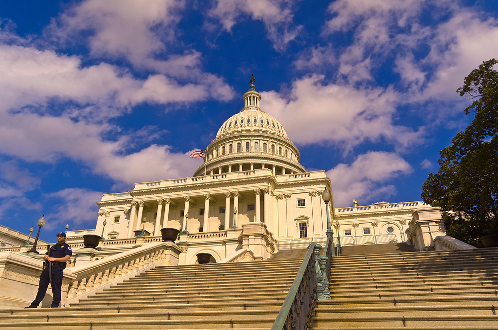 Security guard, United States Capitol, Washington D.C., U.S.A.
