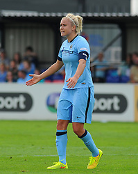 Manchester City Womens' Steph Houghton in action. - Photo mandatory by-line: Nizaam Jones- Mobile: 07583 387221 - 28/09/2014 - SPORT - Women's Football - Bristol - SGS Wise Campus - BAWFC v Man City Ladies - sport