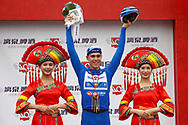 Podium Fabio Jakobsen (NED - QuickStep - Floors) winner during the Tour of Guangxi 2018, Stage 3, Nanning - Nanning (125,4 km) on October 18, 2018 in Nanning, China - photo Luca Bettini / BettiniPhoto / ProSportsImages / DPPI