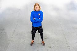 12-05-2020: Voetbal: Bart Sinteur: Leiderdorp<br /> # Bart Sinteur, voetballer vv Katwijk, oud-jeugdspeler Feyenoord, traint alleen i.v.m. de Corona crisis in sportpark de Bloemerd
