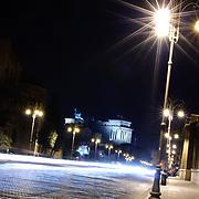 ROME, Italy - Foro Romano (Roman Forum) from Via dei Fori Imperiali