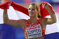 Dafne Schippers (Netherlands), 60m Women Final, 2nd Place, during the European Athletics Indoor Championships 2019 at Emirates Arena, Glasgow, United Kingdom on 1 March 2019.