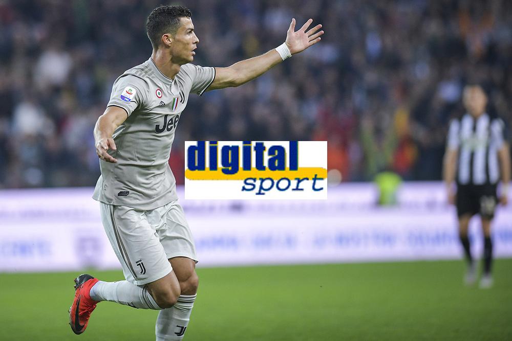 Cristiano Ronaldo esultanza gol. Cristiano Ronaldo celebrates scoring with teammates <br /> Udine 06-10-2018 Stadio Friuli Football Calcio Serie A 2018/2019 Udinese - Juventus<br /> Foto Federico Tardito / OnePlusNine / Insidefoto