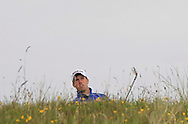 Alex Gleeson (Castle) in the rough on the 14th during Round 3 of the East of Ireland Amateur Open Championship at Co. Louth Golf Club, Baltray on Monday 1st June 2015.<br /> Picture:  Thos Caffrey / www.golffile.ie
