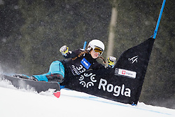 Carolin Langenhorst (GER) competes during Qualification Run of Women's Parallel Giant Slalom at FIS Snowboard World Cup Rogla 2016, on January 23, 2016 in Course Jasa, Rogla, Slovenia. Photo by Ziga Zupan / Sportida