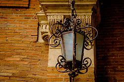 The Société Archéologique du Midi de la France - detail of a lamp at the Archaeological Museum in Toulouse, France<br /> <br /> (c) Andrew Wilson   Edinburgh Elite media