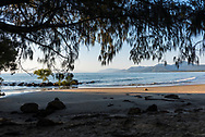 Early morning view of the ocean at Four Mile Beach in Port Douglas, Australia.