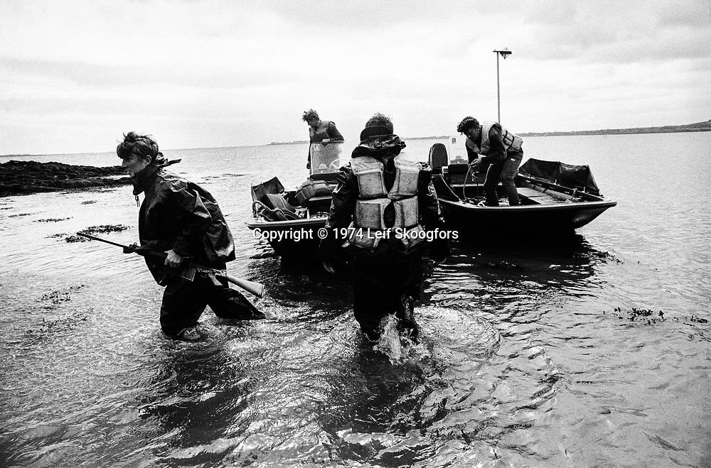 British Army anti-gun running patrol along the Northern Ireland border south of Armagh. Irish Republic Army (IRA) smuggles arms from the Republic of Ireland into Northern Ireland